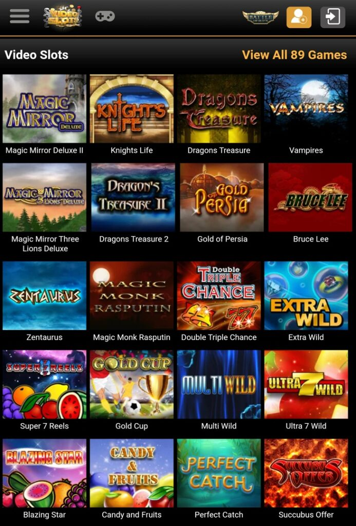 Video Slots - all games