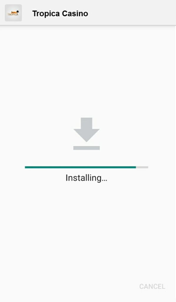 Installing mobile app for android